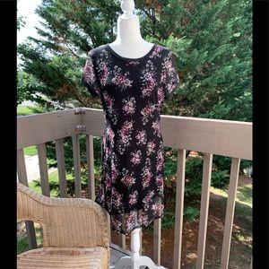 BONGO SZ XL Black floral lace lined dress